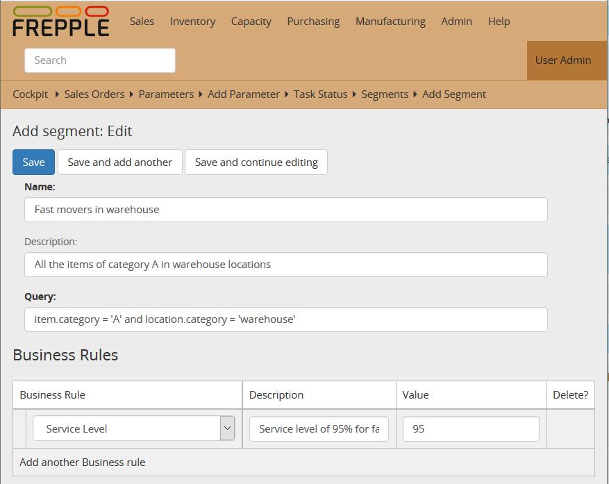 inventory planning screenshot